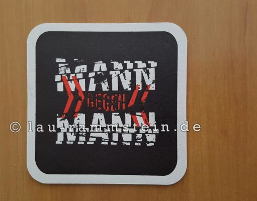 Rammstein - Mann gegen Mann Bierdeckel | 1