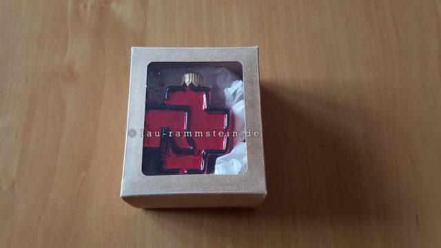 """Rammstein – Weihnachtsbaumkugel """"Logo"""" rot   1"""