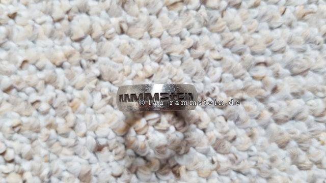 Rammstein - Ring (Edelstahl, brünierte Gravur) | 1