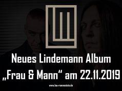Neues Lindemann Album Frau & Mann am 22.11.2019