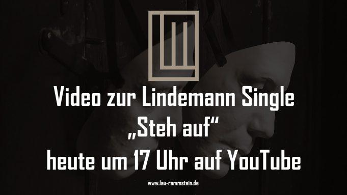 Video zur Lindemann Single Steh auf heute um 17 Uhr auf Youtube