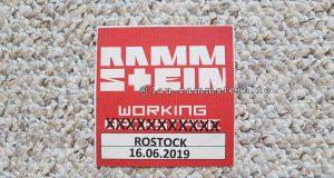 Rammstein - Working Pass Rostock (Europa Stadion Tour 2019) | 1