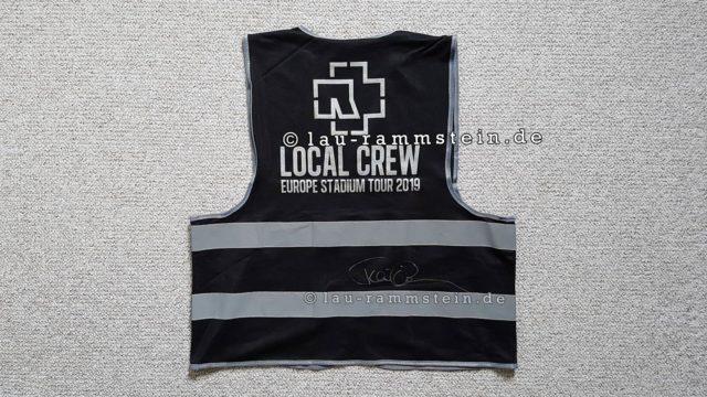Rammstein - Local Crew Weste 2019 schwarz (Signiert von Till Lindemann) | 1