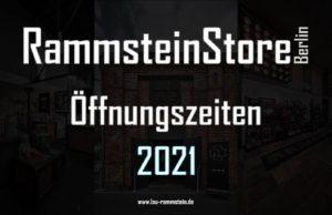 RammsteinStore Berlin Öffnungszeiten für 2020